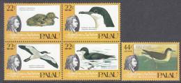 PALAU, 1985 AUDUBON BIRDS BLOCK 4+1 MNH - Palau