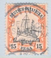 GERMAN  EAST  AFRICA  15   (o)  LINDI  Type  II  DOA  Cd. - Colony: German East Africa