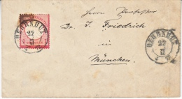 GERMAN  POSTAL  HISTORY  COVER  1872  CARRIER Cd. - Germany