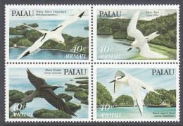 PALAU, 1984 SEABIRDS BLOCK 4 MNH - Palau