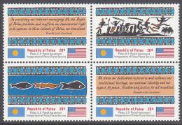 PALAU, 1983 POSTAL SERVICE BLOCK 4 MNH - Palau