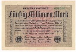 Germany - 50 Millionen Marks - 1923 - P109b - AU - [ 3] 1918-1933: Weimarrepubliek