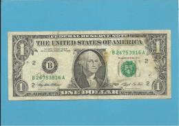 U. S. A. - 1 DOLLAR - 1993 - Pick 490a - NEW YORK - Billetes De La Reserva Federal (1928-...)