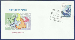 PAKISTAN 2009 FDC UNITED FOR PEACE, DOVE, BIRD, BIRDS, FIRST DAY COVER - Pakistan