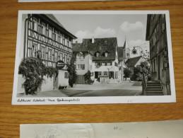 SULZBACH LUFTKURORT BACKNANGERSTRASSE 1954 BN VG ... DA VEDERE   MOLTO PARTICOLARE - Germania