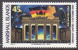MARSHALL Is, 1990 REUNIFICATION OF GERMANY 1 MNH - Marshall Islands