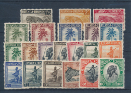 RUANDA URUNDI 1942 ISSUE COB 126/147 MNH