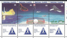 MARSHALL Is,1988 SPACE SHUTTLE STRIP 4 MNH - Marshall Islands