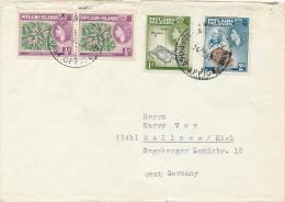 PITCAIRN ISLANDS - 1959 , Brief Nach Wellsee / Kiel - Stamps