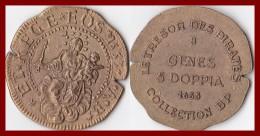 Jeton Italie Gènes 5 Doppia 1653 Collection BP Trésor Des Pirates Lot De 4 Unités Etat TTB Pièce Monnaie Publicité - Royaux/De Noblesse