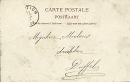 Kontich - Ingang van het Dorp -1903  ( verso zien )