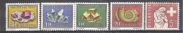 ** SVIZZERA 1958 PRO PRATIA  MINERALS/ MINERALI/ MINERALES 5 V. MNH - Minerali