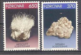 ** 1992 FOROYAR  MINERALS/ MINERALI/ MINERALES 6 V. MNH - Minerali