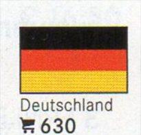 6 Flaggen-Sticker Deutschland In Farbe Pack 4€ Zur Kennzeichnung Von Alben Firma LINDNER #630 BRD Flag Of New Germany D - Zubehör