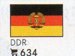 6 Flaggen-Sticker DDR In Farbe Pack 4€ Zur Kennzeichnung An Alben Firma LINDNER #634 In Deutschland Flag Of East-Germany - Zubehör