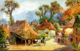 "Old Postcard : "" Torquay, Cockington Village"",  Devon By HB Wimbush, Publisher-Tuck Oilette - Wimbush"