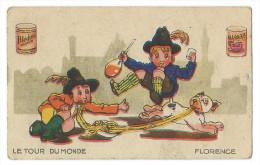 Chromo Publicitaite Blédine Blécao - Série Le Tour Du Monde - Florence - Italie - Confiserie & Biscuits