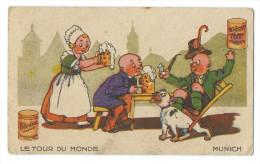 Chromo Publicitaite Blédine Blécao - Série Le Tour Du Monde - Munich - Allemagne - Bière - Confiserie & Biscuits
