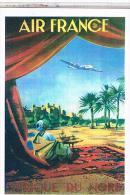 CPM PUBLICITE AVIATION AIR FRANCE AFRIQUE DU NORD    CP109 - Andere