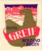 ITALY 3 Labels & 1  Visit Card Carte Visite Manufacture Turtle Naples Hotel Milano Stresa  Greif Bolzano  Terminus Mi - Italy