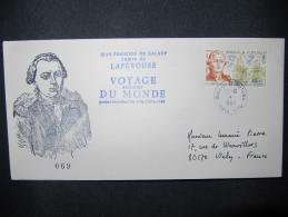 217 Lapérouse Voyage Autour Du Monde FDC Wallis Et Futuna 1988 Astrolabe La Bousole Navires Ship Vessel No TAAF - Esploratori