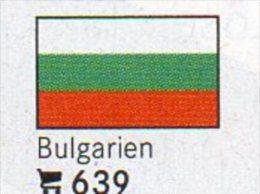 6 Flaggen-Sticker Bulgarien In Farbe Pack 4€ Zur Kennzeichnung Von Alben + Sammlung Firma LINDNER #639 Flag Of BULGARIA - Zubehör
