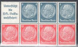 Deutsches Reich Zusammendruck Mi  H - Blatt 89 **  - Siehe Scan - Alemania