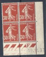 TYPE SEMEUSE   COIN DATE 1937 N ° 360  NEUF** TTB - 1930-1939