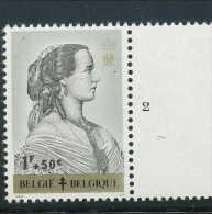 PLANCHES N° 1235-p2, **/MNH, Reines Belges, Marie-Henriette - 1961-1970