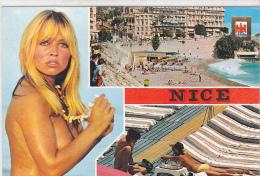 22242 Nice  Souvenir De Nice -Altari 5023 - Pin Up Femme Sein Nu - Pin-Ups