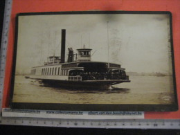 1 Albumen Photo Hardboard  , 1888 On The Hudson N.Y.  COMMUNIPAW Paddle Steamer To New Jersey ,raderboot  GUBELMAN 442 - Bateaux