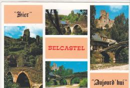 22272 Hier Et Aujourd'hui Belcastel -AS Chateau Fort