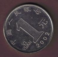 CHINE 1 YUAN 2002 - Chine