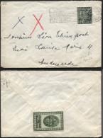 Vignette Religieuse Santuaire De L'Enfant Jésus S/lettre Affr. Exportation BRUXELLES 1951 (459) - 1948 Exportation