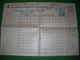 COMUNE DI VIGGIU´ - VARESE - CARTA SPECIALE DELL´ ABBIGLIAMENTO DELLA PROVINCIA DI VARESE - ANNO 1944 - Fatture & Documenti Commerciali