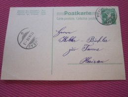 27 Avril 1909 Postkarte Cartolina Postale Entiers PostauX HUNDNER  Pr Koller HERISAU- Marcophile Suisse Helvetia - Interi Postali