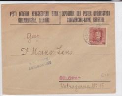 SERBIE (OCCUPATION AUTRICHIENNE) - 1918 -  ENVELOPPE COMMERCIALE De BELGRADE Avec CENSURE - Covers & Documents