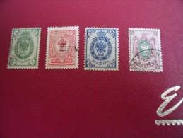 Timbres  De  FINLANDE    Y . T   N°50 / 53   ( Lot  74 ) - 1856-1917 Russische Administratie