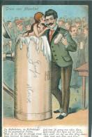 Bière -femme Sort De Chope  - Infime Pli D'angle Haut Droit - Précurseur De MÜNCHEN - Humor