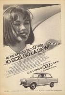 # AUTO UNION DKW 1950s Germany Car Advert Pub Pubblicità Reklame Auto Voiture Coche Carro - KFZ