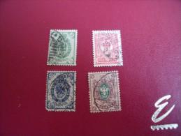 Timbres  De  FINLANDE    Y . T   N°50 / 53   ( Lot  75 ) - 1856-1917 Russische Administratie