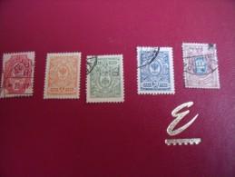 Timbres  De  FINLANDE    Y . T   N°57 -61-63-64-65  ( Lot  76 ) - 1856-1917 Russische Administratie
