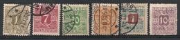 Danemark, Danmark. Taxe. 1907.  N° 1,3,5,6,8,15. Oblit. - Port Dû (Taxe)