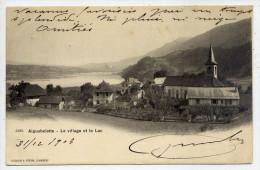 AIGUEBELETTE-LE-LAC--Aiguebelette--1903--Le Village Et Le Lac N°2489 éd J.Julien Frères--Belle Carte Précurseur à Saisir - Autres Communes