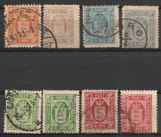 Danemark, Danmark. Service. 1875-1915.  Entre N° 4 Et 16. Oblit. - Officials