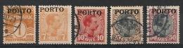 Danemark, Danmark. Taxe. 1921.  Entre N° 1 Et 7. Oblit. Et Neuf * MH. - Port Dû (Taxe)