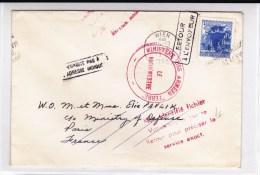 1966 - ENVELOPPE De WIEN (AUTRICHE) Pour Le MINISTERE Des ARMEES - RETOUR à L´ENVOYEUR Avec CACHETS Du MINISTERE - Marcophilie (Lettres)