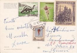 1968 - CARTE POSTALE Avec AFFRANCHISSEMENT SPECTACULAIRE Pour GENEVE - Lettres & Documents