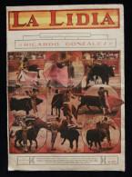 ESPAGNE TAUROMACHIE Revue  LA LIDIA Artistas Del Toreo RICARDO GONZALEZ Enrique TORRES 1926 - Revues & Journaux
