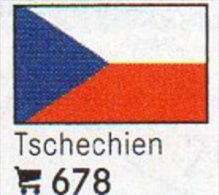 6 Flaggen-Sticker Tschechien Farbe Set 4€ Zur Kennzeichnung Von Alben+Sammlung Firma LINDNER #678 Flag Of CESKY Republik - Zubehör